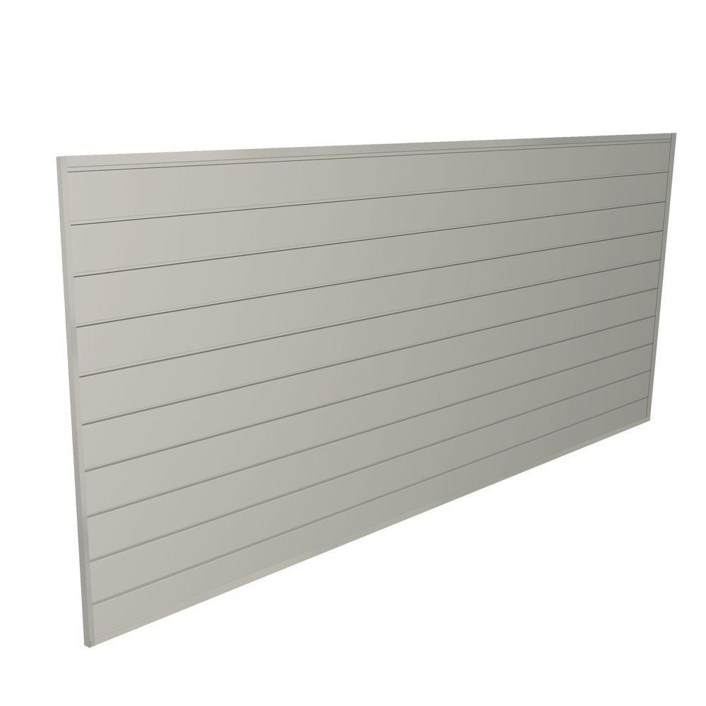 32 sq. ft. 48 in. H x 96 in. W Sandstone Heavy Duty Slat Wall Panel Set Kit