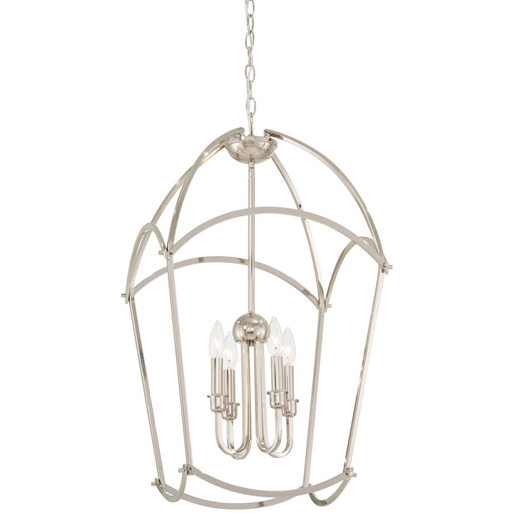 Jupiter's Canopy 4-Light Polished Nickel Pendant