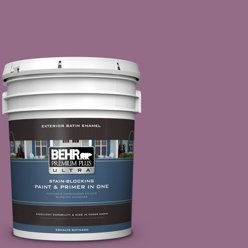 5-gal. #M110-6 Sophisticated Lilac Satin Enamel Exterior Paint