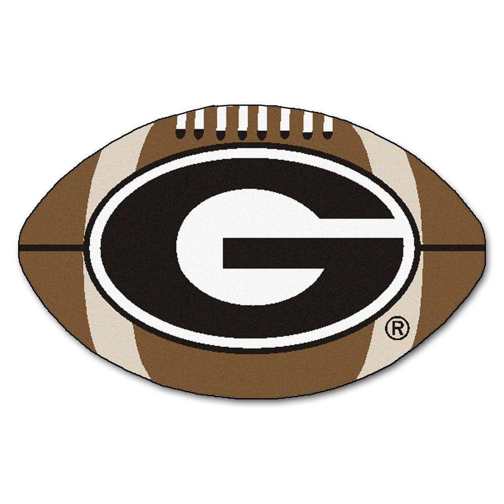 Fanmats Ncaa University Of Georgia G Logo Brown 1 Ft 10