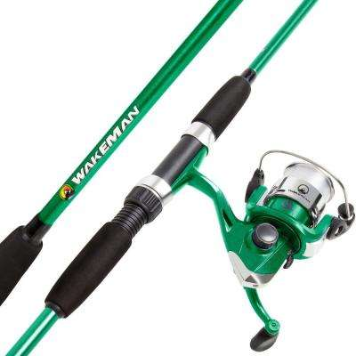 Swarm Series Spinning Rod and Reel Combo in Green Metallic