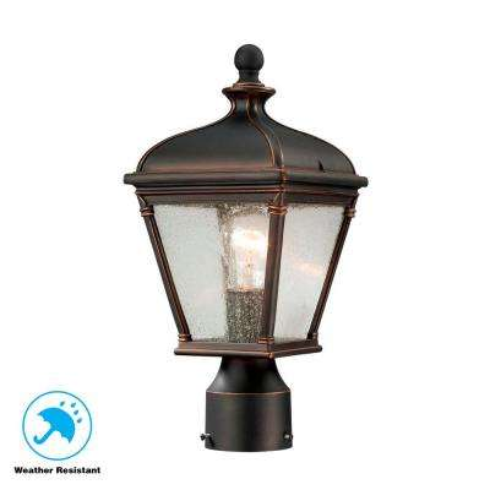 Malford Dark-Rubbed Bronze Outdoor Post-Mount Lantern
