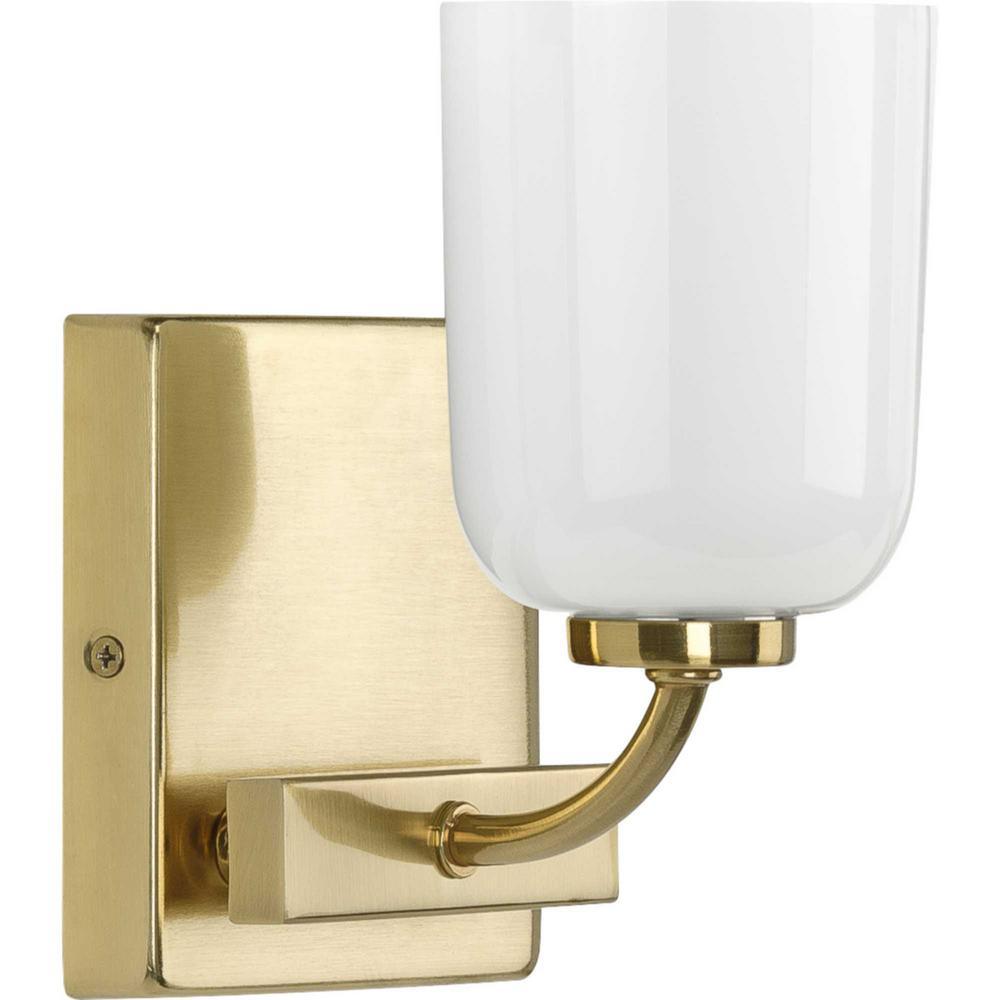 Moore 1-Light Satin Brass Bath Light