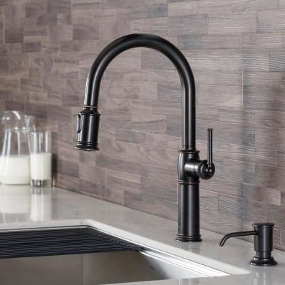 Sellette Traditional Single-Handle Pull-Down Sprayer Kitchen Faucet with Dual Function Sprayhead in Oil Rubbed Bronze