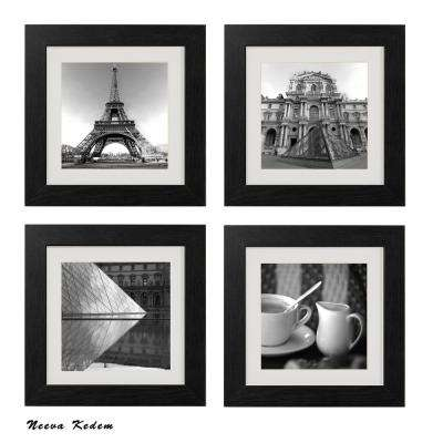 "Four 10 in. x 10 in. ""Paris Magic"" by Neeva Kedem Framed Printed Wall Art"
