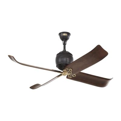 Volta 60 in. Indoor Antique Iron with Hand-Rubbed Antique Brass Ceiling Fan with Remote Control