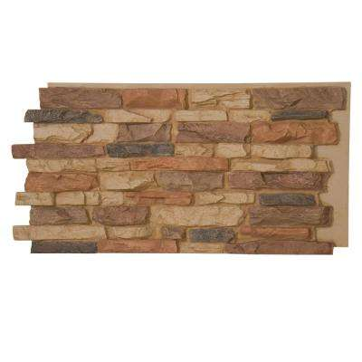 Denalia Faux Stone Panel 1-1/4 in. x 48 in. x 24 in. Desert Sand Polyurethane Interlocking Panel
