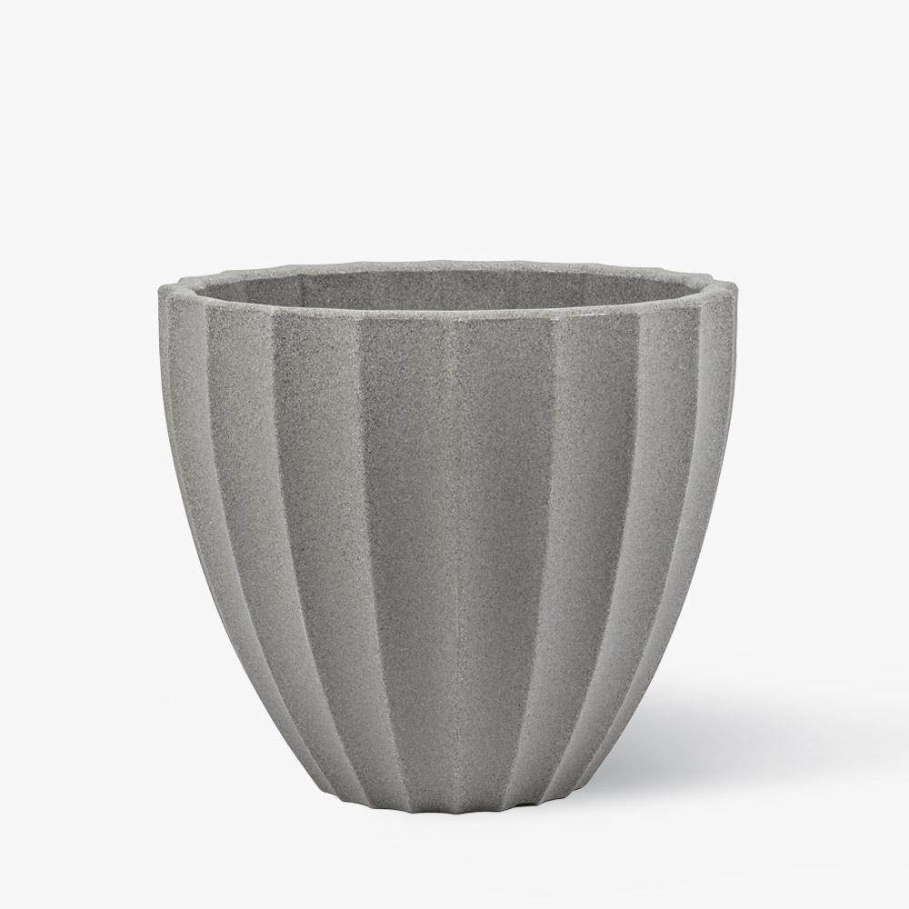 16 in. Concrete Resin Madrid Planter