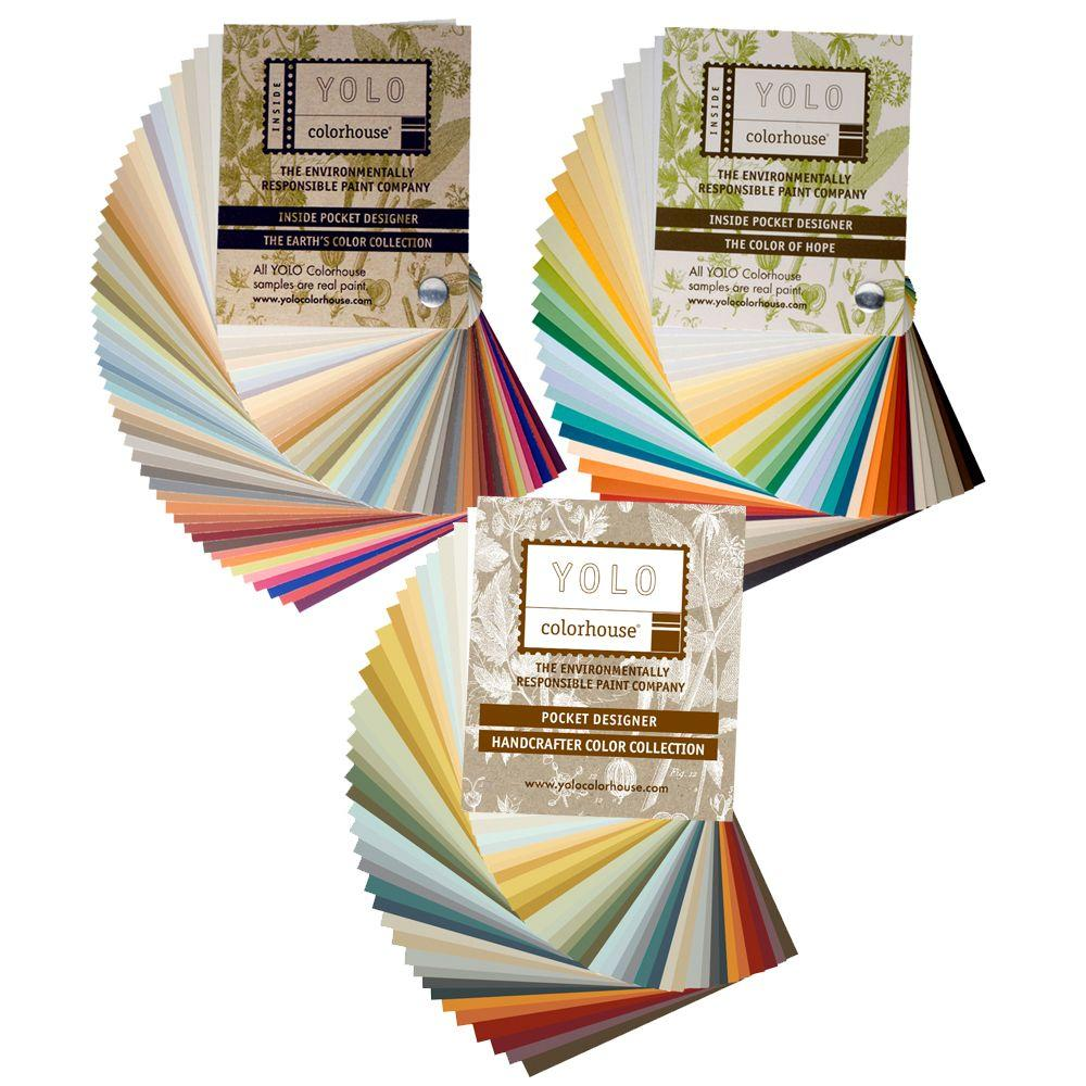YOLO Colorhouse Earth's Color Collection, HopE/ Sprout and Handcrafter Collection 4 in. x 4 in. 128-Color Fan Deck Set-DISCONTINUED