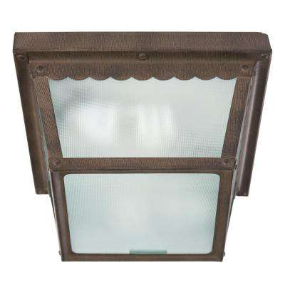 Exterior Lighting Series 1-Light Dark Brown Outdoor Wall-Mount Lamp