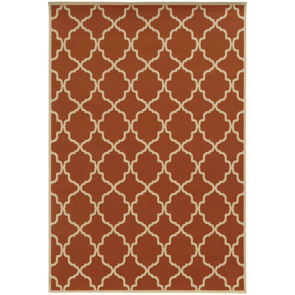 Home Decorators Collection Newport Terra 7 ft. x 10 ft. Indoor/Outdoor Area Rug