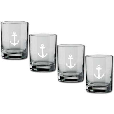 Kasualware Anchor 14 oz. Double Old Fashioned Glass (Set of 4)