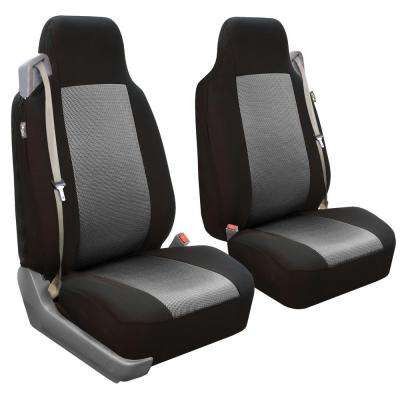 Flat Cloth 47 in x 23 in. x 1 in. Built-In Seat Belt Compatible High Back Front Seat Covers