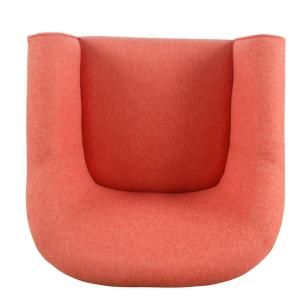Enjoyable Homepop Textured Coral Orange Woven Modern Barrel Accent Gmtry Best Dining Table And Chair Ideas Images Gmtryco