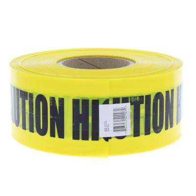 3 in. x 1,000 ft. Barricade Tape Caution High Voltage, Yellow