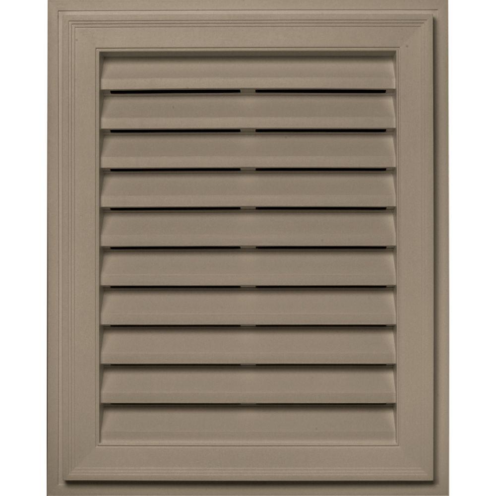 Builders Edge 20 in. x 30 in. Brickmould Gable Vent in Clay