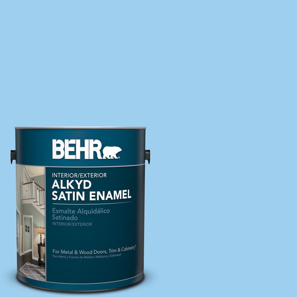 P500 3 Spa Blue Satin Enamel Alkyd Interior Exterior