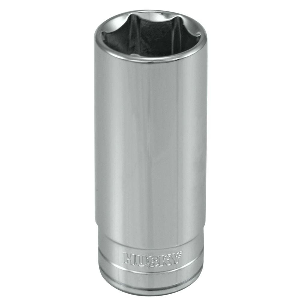 Husky 3/8 in. Drive 13/16 in. 6-Point SAE Deep Socket