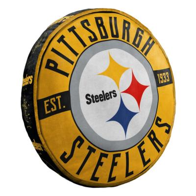 15 in. Steelers Multi Color Polyester Cloud Standard Pillow