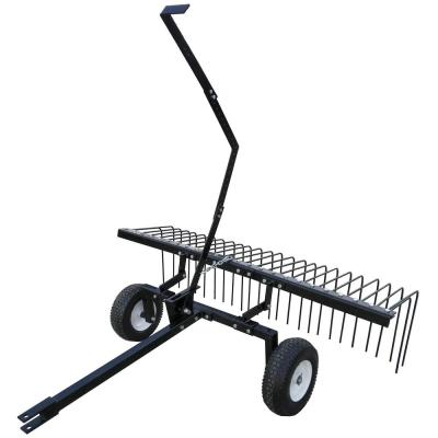 Yard Tuff 60 in. Pine Straw Outdoor Garden Rake for ATV, UTV or Utility Tractor