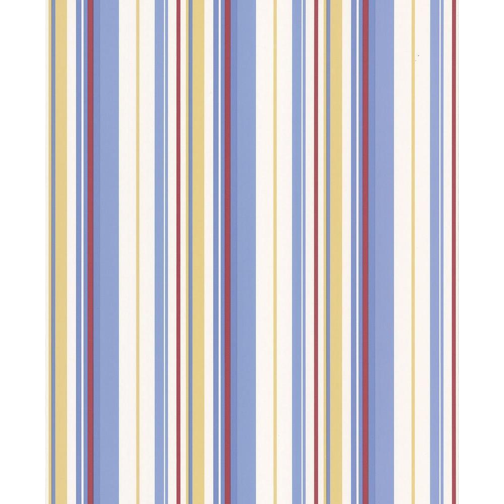 Brewster 56 sq. ft. Stripe Wallpaper