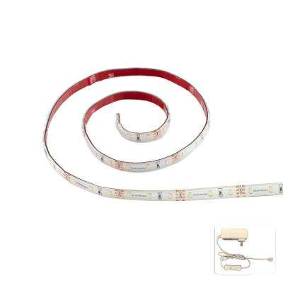 36 in. FlexLED Cool White Flexible Linkable LED Strip and 2-Amp Power Supply Complete Kit