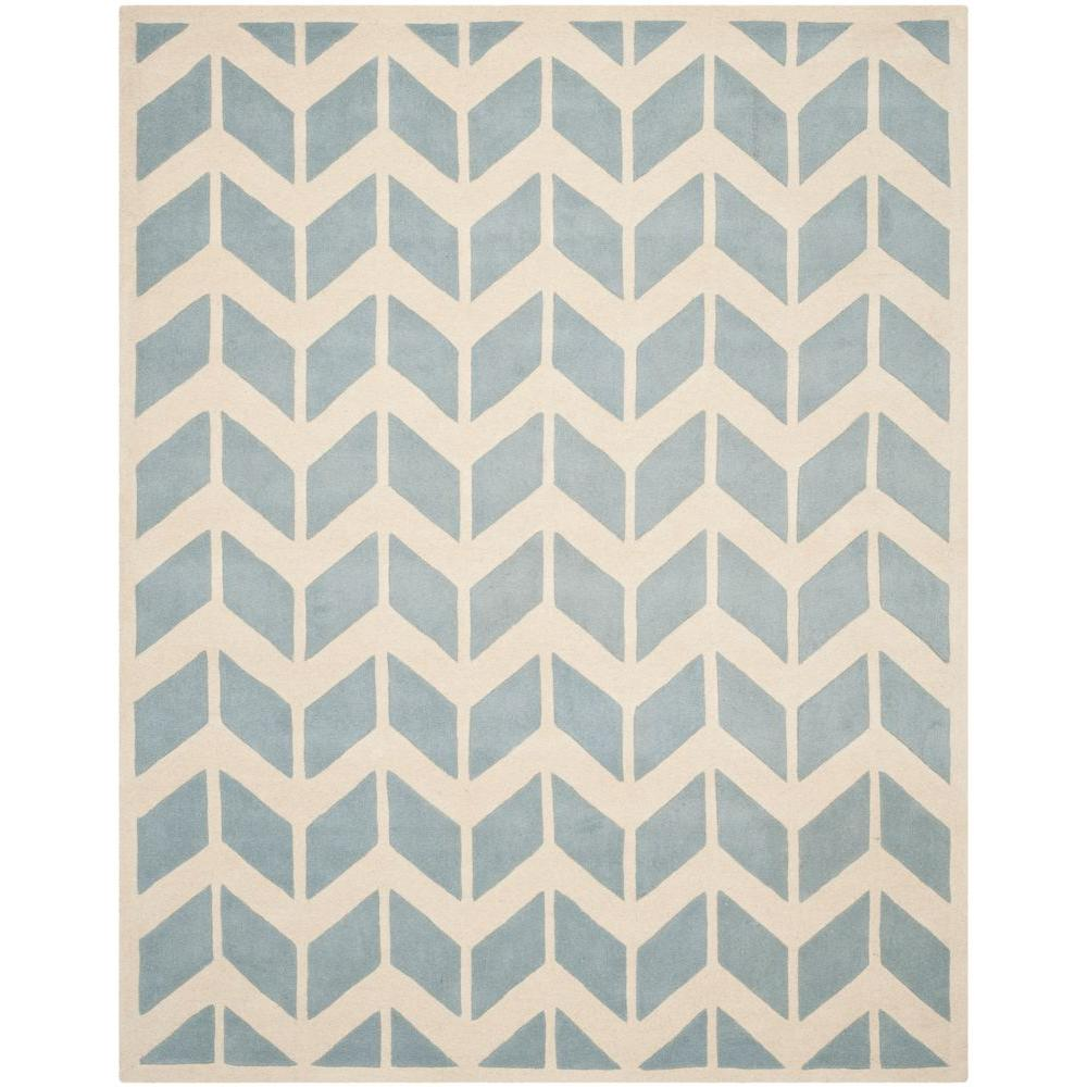 Chatham Blue/Ivory 6 ft. x 9 ft. Area Rug