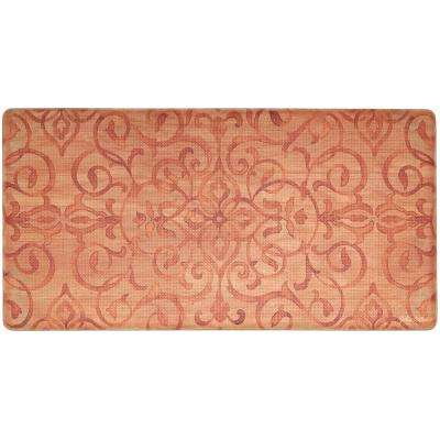 Cook N Comfort Rust Rustic Medallion 20 in. x 39 in. Kitchen Mat