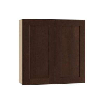 Franklin Assembled 27x30x12 in. Double Door Wall Kitchen Cabinet in Manganite