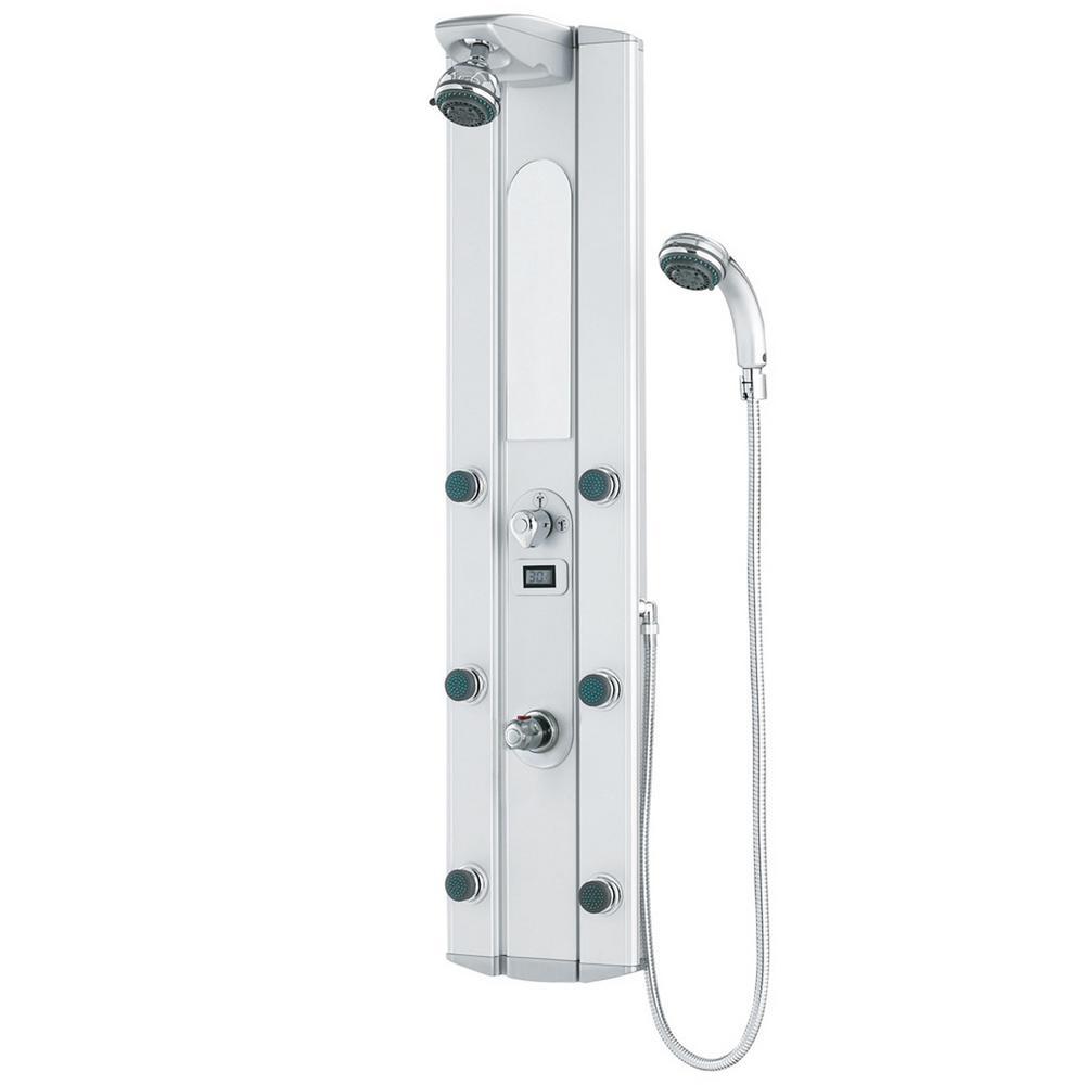 VIGO 6-Jet Shower Panel System in Satin