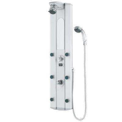6-Jet Shower Panel System in Satin (Valve Included)