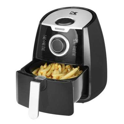 3.2 Qt. Manual Air Fryer in Black