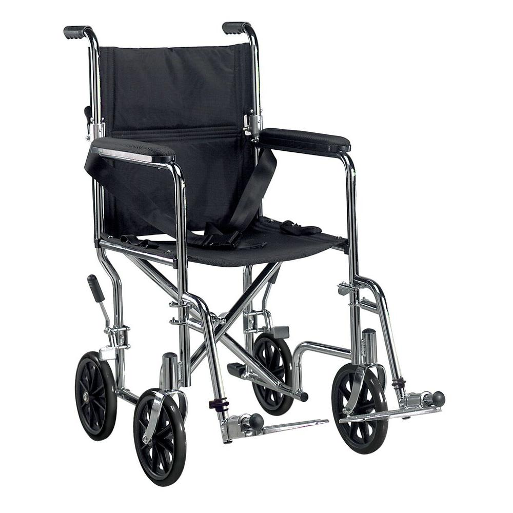 Go Cart Transport Wheelchair with Swing Away Footrest and 19 in.