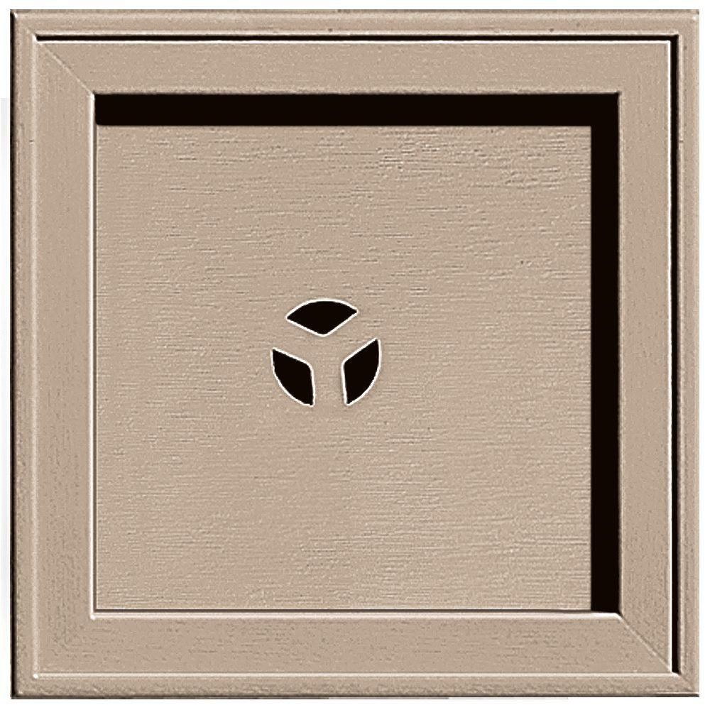 Builders Edge 7.75 in. x 7.75 in. #023 Wicker Recessed Square Mounting Block