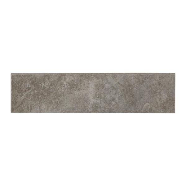 Continental Slate English Gray 3 in. x 12 in. Porcelain Bullnose Floor and Wall Tile (0.257 sq. ft. / piece)