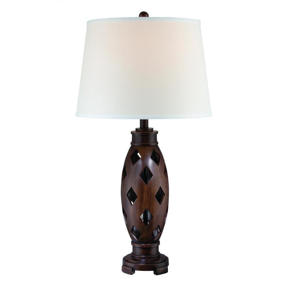 30.5 in. Dark Walnut Table Lamp