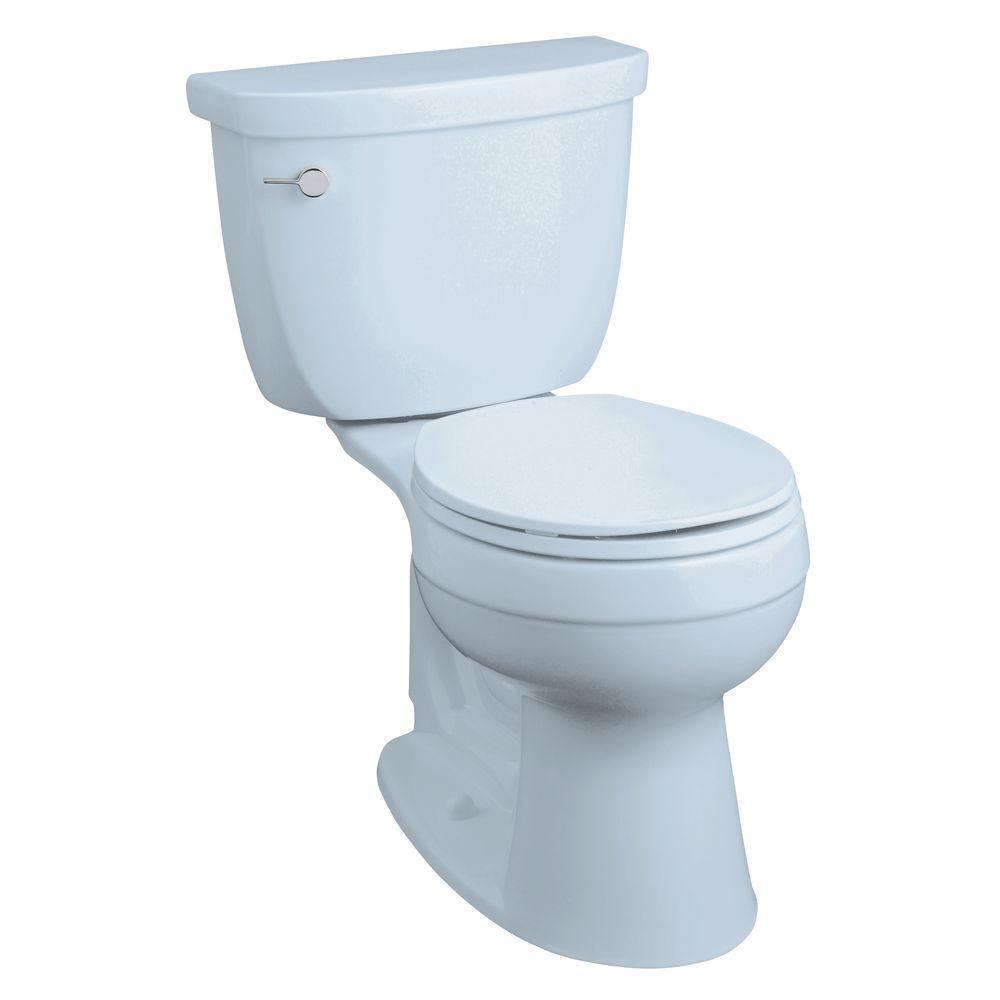 KOHLER Cimarron Comfort Height 2-Piece 1.6 GPF Round Front Toilet in Skylight-DISCONTINUED