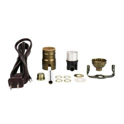 Antique Brass Table Lamp Socket Kit (1-Pack)