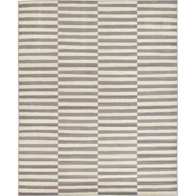 Williamsburg Striped Gray 8' 0 x 10' 0 Area Rug