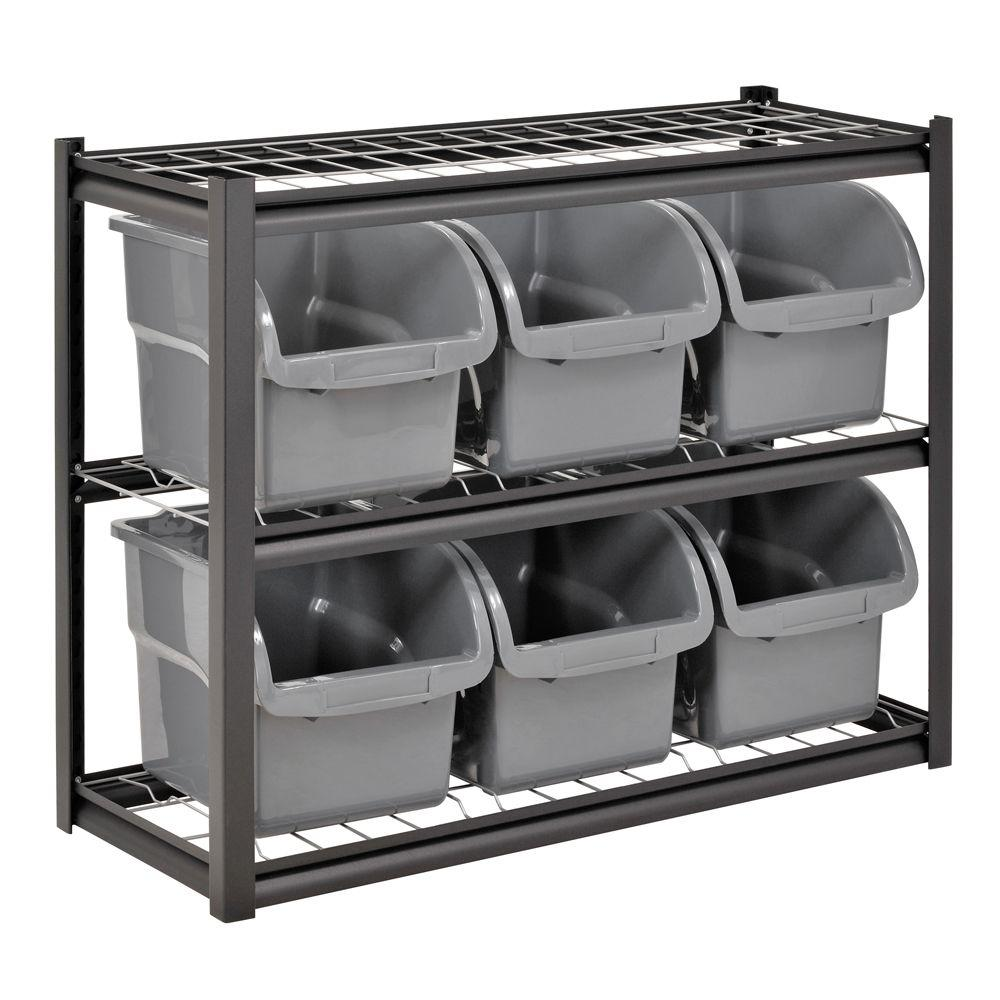 Edsal 33 In H X 44 In W X 16 In D 2 Shelf 6 Bin