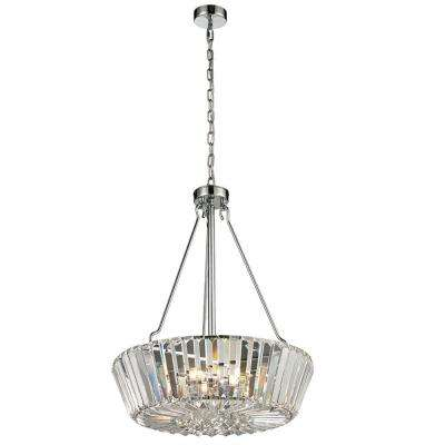 Crystal Palace 5-Light Polished Chrome Indoor Pendant
