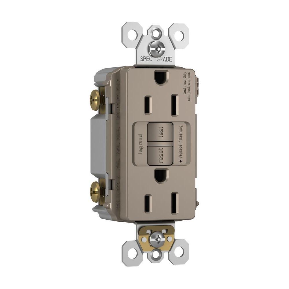 15 Amp 125 Volt 2 Outlet Self Test Gfci Nickel