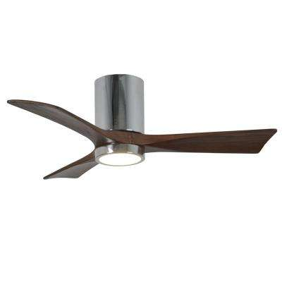 Camilla 42 in. 3-Blade Polished Chrome Ceiling Fan