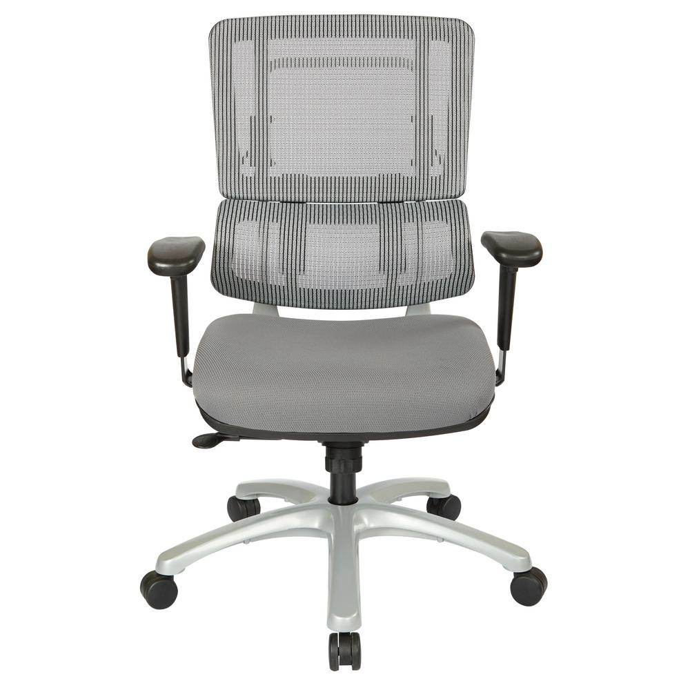 pro line ii grey mesh vertical back office chair 99666s 5811 the