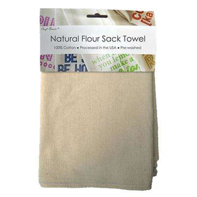 Natural 22 in. x 36 in. Unbleached Flour Sack Towel (10-Pack)