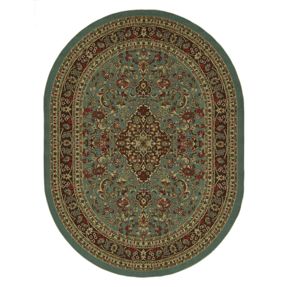 Ottomanson Ottohome Collection Seafoam Oriental Design 5