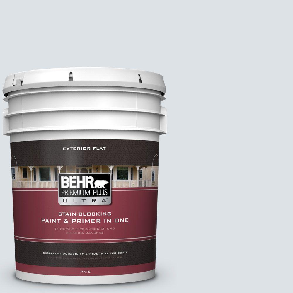 BEHR Premium Plus Ultra 5-gal. #ICC-36 Serene Flat Exterior Paint