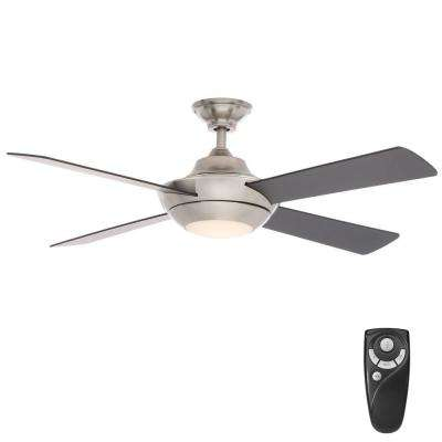 Moonlight II 52 in. LED Indoor Brushed Nickel Ceiling Fan with Light Kit and Remote Control