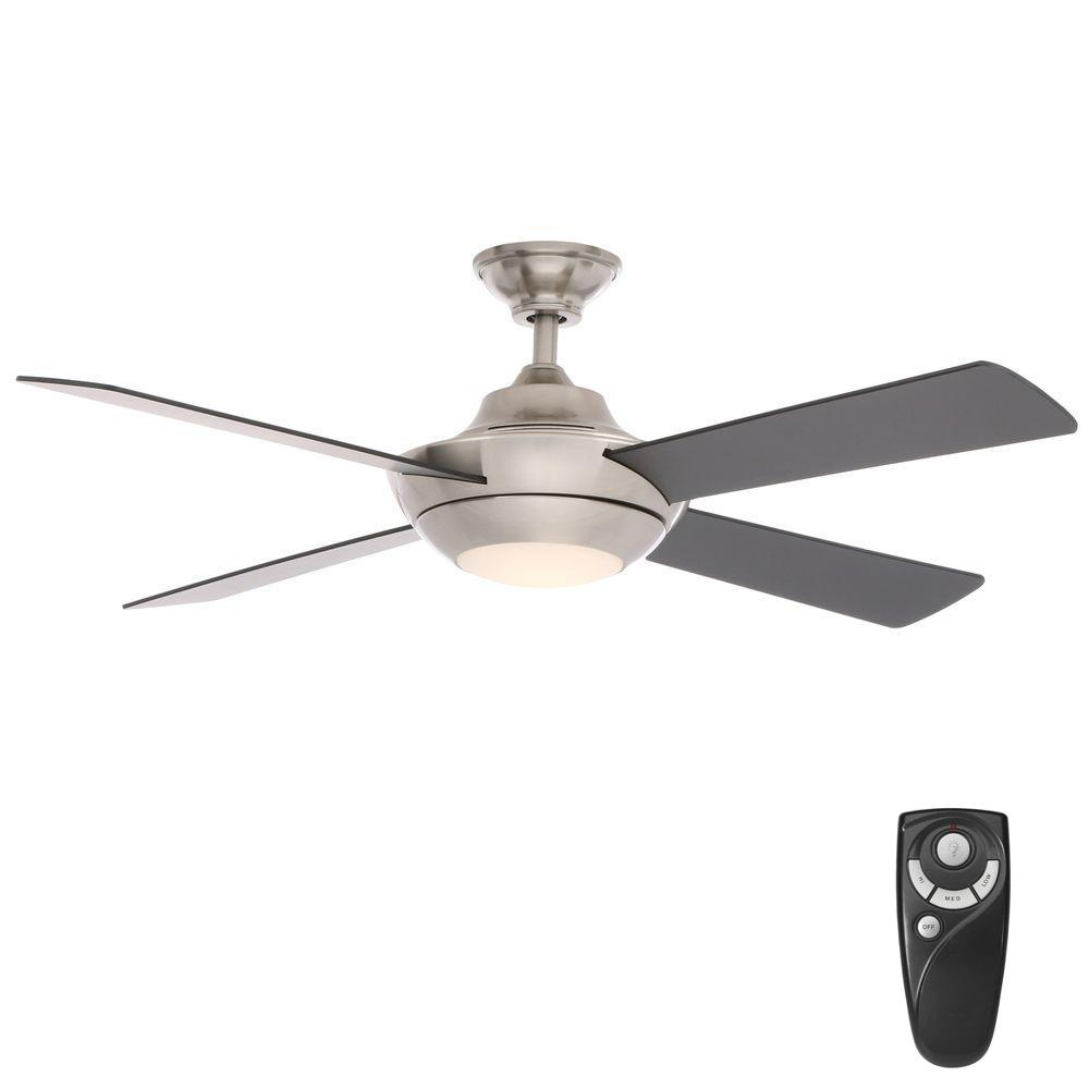 Good Home Decorators Collection Moonlight II 52 In. LED Indoor Brushed Nickel  Ceiling Fan With Light