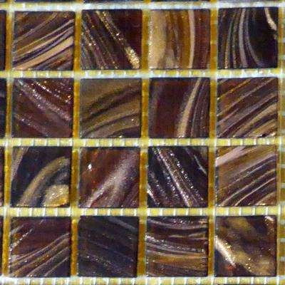 Dark Brown 12 in. x 12 in. x 4 mm Glass Mosaic Tile DIY Kit (10 sq. ft./case)